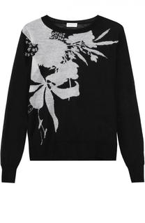Пуловер прямого кроя с контрастным принтом Dries Van Noten