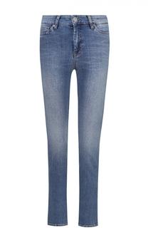 Укороченные джинсы-скинни с потертостями MiH Jeans