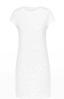 Мини-платье прямого кроя с фактурной цветочной отделкой Escada Sport