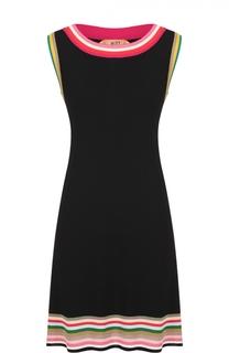 Мини-платье прямого кроя с контрастной отделкой No. 21