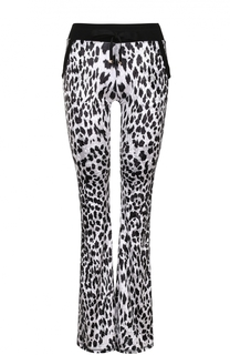 Спортивные расклешенные брюки с леопардовым принтом Roberto Cavalli