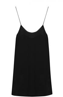 Мини-платье прямого кроя на тонких бретельках Poustovit