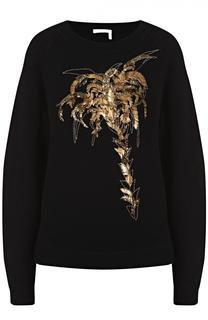 Пуловер свободного кроя с контрастной отделкой Chloé