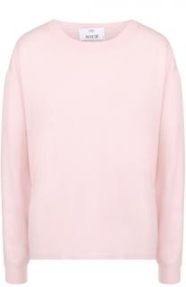 Пуловер прямого кроя с круглым вырезом Allude
