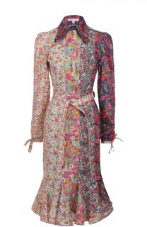Приталенное платье-рубашка с поясом Olympia Le-Tan