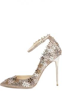 Кожаные туфли Lorelai с аппликацией Jimmy Choo