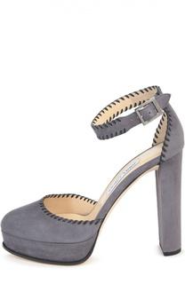 Замшевые туфли Daphine с ремешком на щиколотке Jimmy Choo