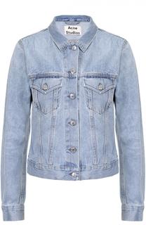Укороченная джинсовая куртка с накладными карманами Acne Studios