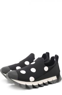 Комбинированные кроссовки Ibiza с принтом Dolce & Gabbana