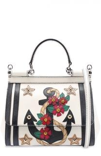 Сумка Sicily small с аппликацией Dolce & Gabbana