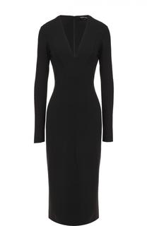 Платье-футляр с V-образным вырезом Tom Ford