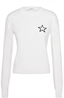 Кашемировый пуловер прямого кроя с контрастной отделкой в виде звезды Givenchy