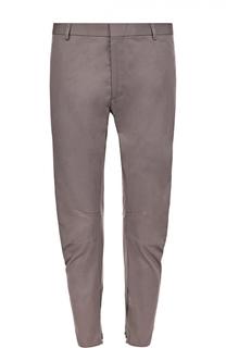 Хлопковые зауженные брюки с молниями Lanvin