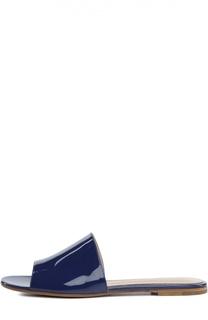 Лаковые шлепанцы 70xx на плоской подошве Gianvito Rossi