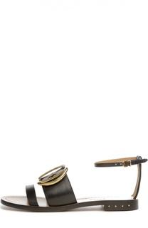 Кожаные сандалии Dalvina с пряжкой Bally