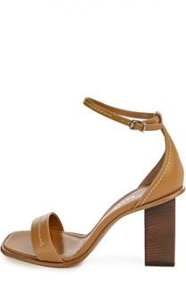 Кожаные босоножки Sadrina на устойчивом каблуке Bally