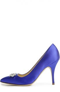 Атласные туфли с брошью Duccio Venturi Bottier