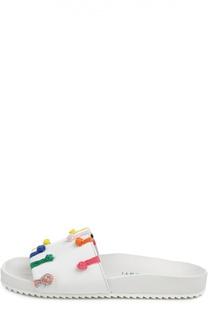 Кожаные шлепанцы с декоративными узлами Mira Mikati