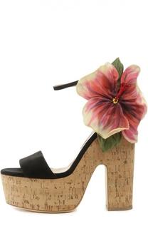 Босоножки Flower Kate на пробковой подошве Brian Atwood