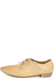 Кожаные ботинки с зауженным мысом Marsell
