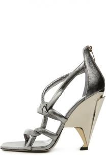 Кожаные босоножки Kissy на фигурном каблуке Jimmy Choo