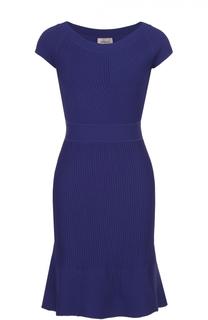 Приталенное мини-платье фактурной вязки Armani Collezioni