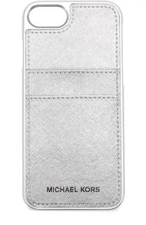 Чехол для iPhone 7 из металлизированной сафьяновой кожи MICHAEL Michael Kors