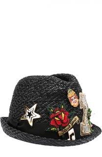 Шляпа с декоративной отделкой Dolce & Gabbana