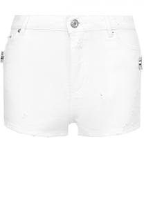 Джинсовые мини-шорты с потертостями Givenchy