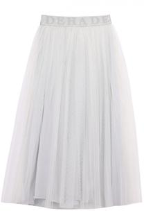 Многоярусная пышная юбка-миди с широким поясом Deha