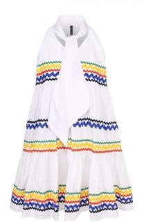 Мини-платье свободного кроя с воротником аскот Lisa Marie Fernandez