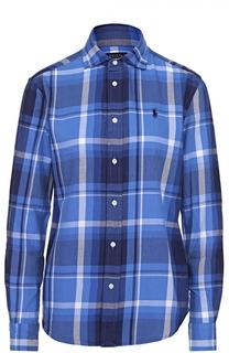 Блуза прямого кроя в клетку Polo Ralph Lauren