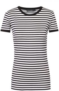 Удлиненная футболка в контрастную полоску Dolce & Gabbana