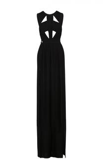 Платье-макси с высоким разрезом и открытой спиной Philipp Plein