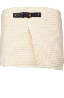 Хлопковая мини-юбка c кожаным ремешком Isabel Marant