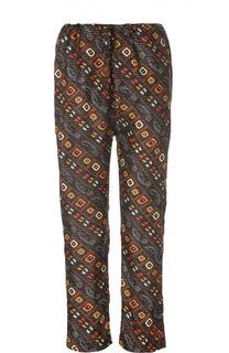 Прямые укороченные брюки с контрастным принтом Isabel Marant