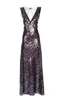 Приталенное платье с пайетками и открытой спиной Marc Jacobs