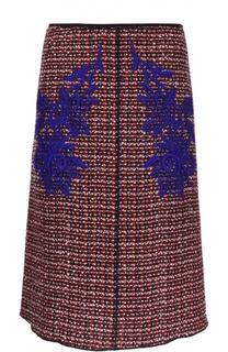 Юбка А-силуэта с контрастной вышивкой Marc Jacobs
