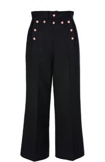 Укороченные брюки с завышенной талией и вышивкой Marc Jacobs