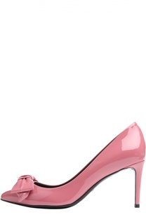 Лаковые туфли Clodine с бантом Gucci