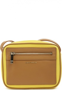 Кожаная сумка с контрастными вставками Camera Bag Coccinelle