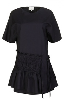 Приталенное мини-платье с широкой оборкой 3.1 Phillip Lim