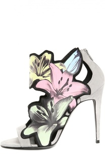 Кожаные босоножки с аппликациями Pierre Hardy