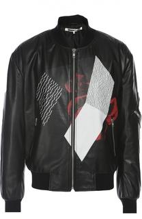 Кожаная куртка-бомбер MCQ