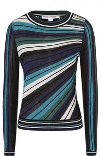 Пуловер в полоску с металлизированной отделкой Diane Von Furstenberg