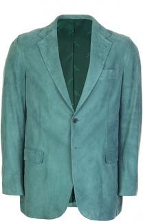 Замшевый пиджак Kiton