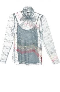 Кружевная блуза с длинным рукавом и воротником аскот REDVALENTINO