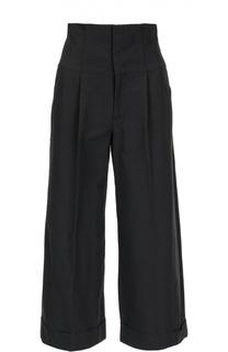 Укороченные брюки с завышенной талией на шнуровке REDVALENTINO