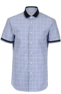 Рубашка в клетку с коротким рукавом Brioni