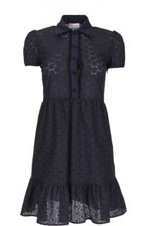 Кружевное приталенное платье-рубашка REDVALENTINO